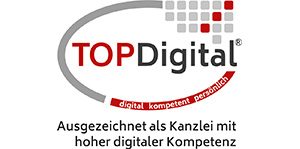 TopDigital - Ausgezeichnet als Kanzlei mit hoher digitaler Kompetenz