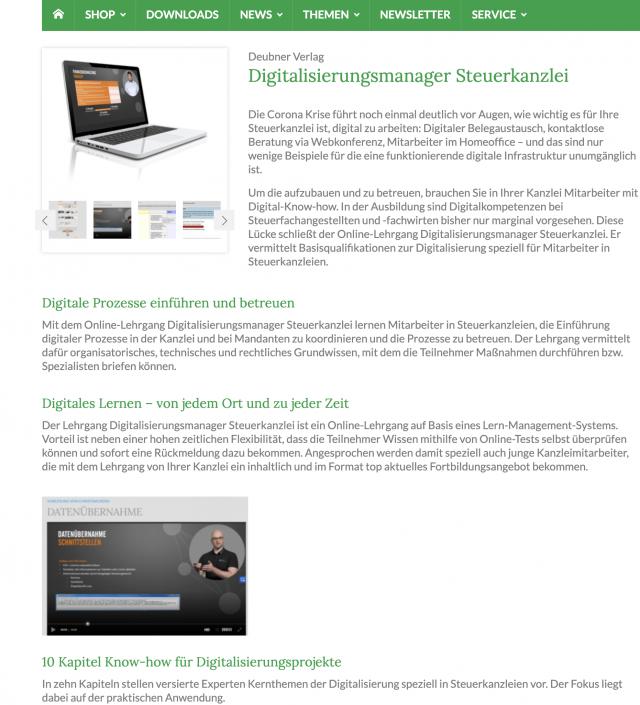 Digitalisierungsmanager Deubner Verlag